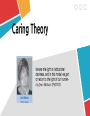 Caring Theory new