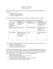 SED 260 Test 2 Study Guide (Ch 5-6)