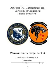 Warrior Knowledge Packet Spring 2016