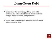 Lecture 24 Long-term Debt