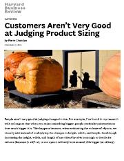 Customers Aren't Very Good at Judging Product Sizing