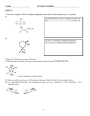 CHEM 212 Practice Midterm Questions and Answers
