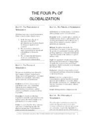 The Four P's of Globalization