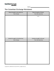 Columbian Exchange worksheet.pdf