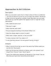 Approaches to Criticism
