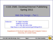 Web Site Design - Part 1