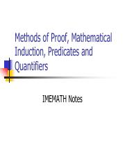 Mathematical Induction and Quantifiers