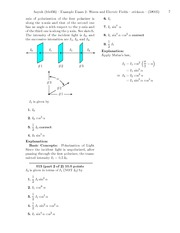 Example Exam 2- Waves and Electric Fields-solutions