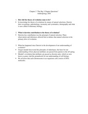 Anthro2010 Chapter 2 Big 3 questions