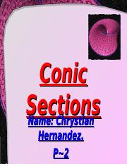 LessonCS1Conic Sections.ppt