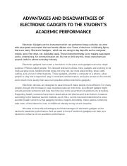 ADVANTAGES AND DISADVANTAGES OF ELECTRONIC GADGETS TO THE STUDENT.docx