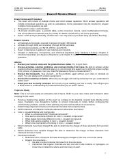 CHM 207 Exam 2 Review Sheet Morton F16