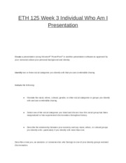 eth125 diversity worksheet Eth/125 diversity worksheet essay 469 words - 2 pages living environments, political reasons, or natural disaters 4 what are some of the ways groups of.