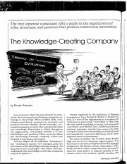 Knowledge Creating Company Pdf