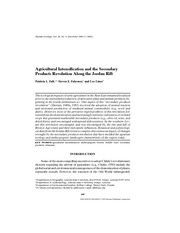 Fall et al (2002) Agricultural Intensification and the Secondary Products Revolution Along the Jorda