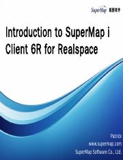 Introdution to SuperMap iClient for Realspace.pptx