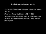 Early Roman Images slides