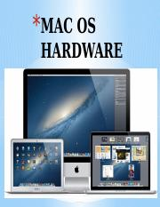 MAC OS HARDWARE power point