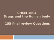 CHEM 1004 Final Review
