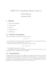 CMPT 710 Complexity Theory