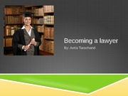 Lawyer as a career powerpoint