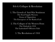 Collapse and Revolution