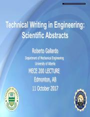 Gallardo- Technical Writting Abstracts Oct 11 2017 As Presented.pdf