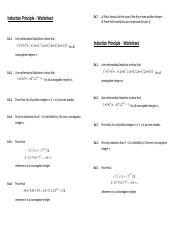 Worksheet - Induction Principle