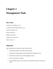 FFP 2810 Chapter 2 - Management Tools