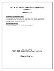 ACCT 301 Week 4 Managerial Accounting-Discussion.docx