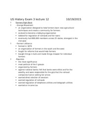 US History Exam 3 lecture 12