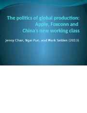 Global East Asia - The Politics of Global Production.pptx