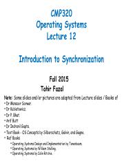 Lecture-12-Synchronization-I