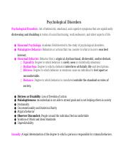 Chapter13-PsychologicalDisorders