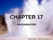 CHAPTER 17 Groundwater revised June 2010