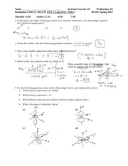 Solutions In Class Exercise 10 09-105 S 15