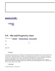 LP – Ma-and-Pa grocery store _ gsourcecode.html