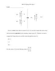 Quiz 1 Series and parallel circuits