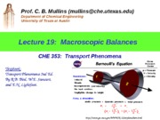 Topic 19 ChE 353 Macroscopic Balances (updated Nov 2 2009) (1)