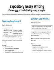 Expository Essay Writing conflict and.docx