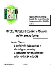 2017 MIC 301_303_320 Lecture 2