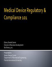 Medical Device Regulatory and Compliance 101_07Mar2017-PUBLIC_Spring 2017