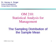 Section 7 Operation Management Statistics