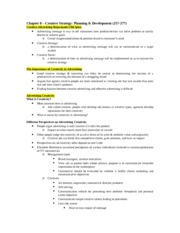 IMC Chapter 8 Study Guide