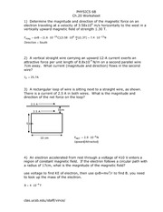 Physics 6B Ch20worksheet Solutions