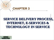 Chapter 3 - Service Delivery Process, Operations and E-Service