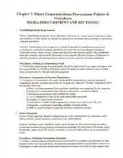Chapter 7 - Media Procurement and Receiving Policies and Procedures