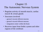 Tortora - Chapter 15 - The Autonomic Nervous System