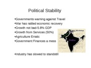 Political Stability INDIA