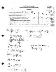 AP Calculus Exam Material Question 6